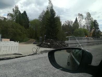 vanhan sillan purkaminen on aloitettu