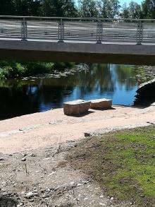 vanhan sillan kiviä käytetty upeasta