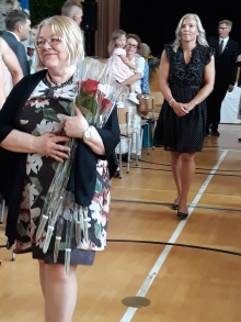 Rehori Liisa Jääskeläinen ja luokanohjaaja Maria Hormavirta